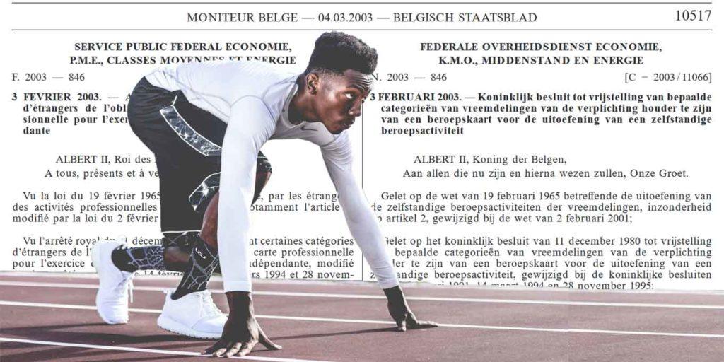 Carte Professionnelle Belgique