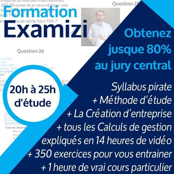Image résumé formation gestion Examizi